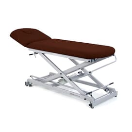 Electric economical couch of 2 sections with scissor structure, folding backrest and wheels 62